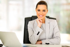 Businesswoman relaxing office Royalty Free Stock Image