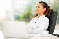 Businesswoman relaxing office Stock Photography