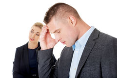 Businesswoman reprimend her partner Royalty Free Stock Images