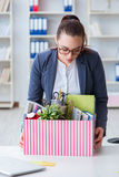 The businesswoman resigning from her job Stock Images