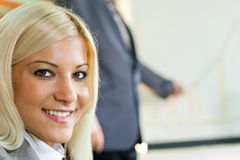Businesswoman in restaurant Stock Image