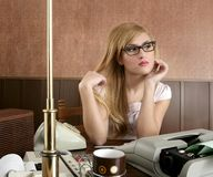 Businesswoman retro secretary office vintage Royalty Free Stock Photography