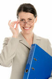 Businesswoman with ring binder Stock Image