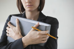 Businesswoman With Ring Binder Stock Photography