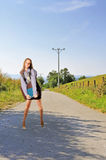 Businesswoman on road Royalty Free Stock Images