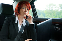 Businesswoman On The Road Stock Photos