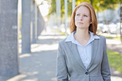 Businesswoman in Rotterdam Royalty Free Stock Photography