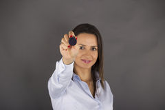 Businesswoman with rubber stamp Stock Photography