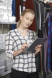 Businesswoman Running On Line Fashion Business Royalty Free Stock Photography