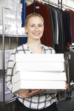 Businesswoman Running On Line Fashion Business Royalty Free Stock Image