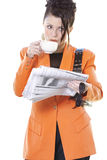 businesswoman s śniadanie zdjęcie stock