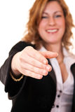 Businesswoman's hand Royalty Free Stock Images