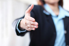 Businesswoman's hand Stock Images