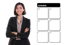 Businesswoman's schedule with copyspace Stock Photography
