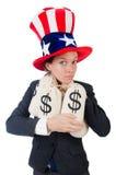 Businesswoman with sacks Stock Photos