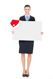 Businesswoman with  santa billboard Royalty Free Stock Photo