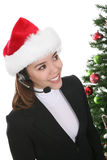 Businesswoman in Santa hat Royalty Free Stock Images