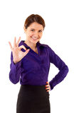 Businesswoman satisfied with results Royalty Free Stock Photography