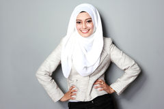 Businesswoman with scarf Stock Photos
