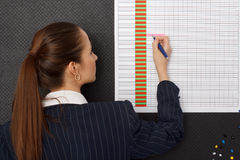 Businesswoman schedule at office Royalty Free Stock Photo