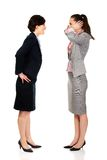 Businesswoman screaming on her partner. Royalty Free Stock Images