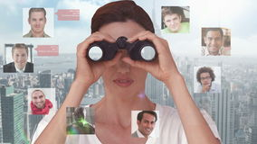 Businesswoman searching for new employees stock video footage