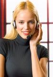 Businesswoman or secretary Stock Images