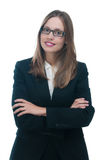 Businesswoman or secretary with crossed arms Stock Photos