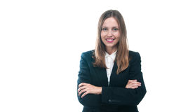 Businesswoman or secretary with crossed arms Stock Photography