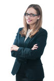 Businesswoman or secretary with crossed arms Royalty Free Stock Images