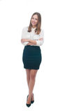 Businesswoman or secretary with crossed arms Stock Images