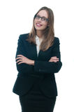 Businesswoman or secretary with crossed arms Stock Image