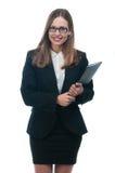 Businesswoman or secretary with portfolio Royalty Free Stock Image