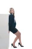 Businesswoman or secretary pushing something Stock Images