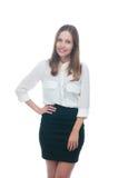 Businesswoman or secretary smiling Royalty Free Stock Image