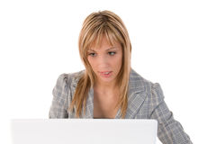 Businesswoman, secretary or student with laptop Stock Photography