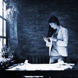 Businesswoman Secretary Using Mobile Phone Concept Stock Photography