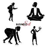 Businesswoman set. Vector Illustration