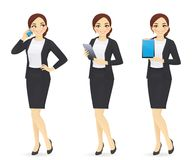 Businesswoman set Royalty Free Stock Photo