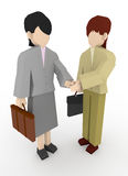 Businesswoman shaking hands. The career of the two shaking hands. Holds negotiations with a handshake. Working Women's suits. Meet with the client Royalty Free Stock Images