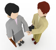 Businesswoman shaking hands. The career of the two shaking hands. Holds negotiations with a handshake. Working Women's suits. Meet with the client Stock Photography