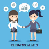 Businesswoman shaking hands Royalty Free Stock Image