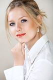 businesswoman shirt white στοκ εικόνες με δικαίωμα ελεύθερης χρήσης