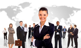 Businesswoman and shis team Stock Photos