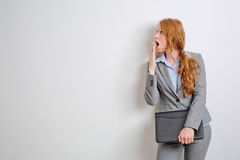 Businesswoman in Shock or Surprise Stock Images