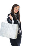 Businesswoman shopping Stock Images