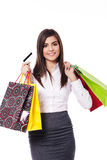 Businesswoman on shopping Stock Images