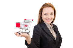 Businesswoman with shopping Royalty Free Stock Photo