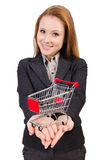 Businesswoman with shopping Royalty Free Stock Photos