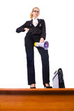 Businesswoman shouting Royalty Free Stock Image